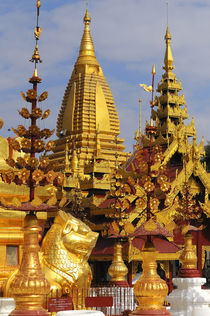 The Shwe Zigon Pagoda complex in Bagan by Danita Delimont