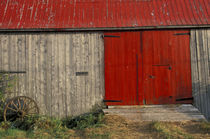 Red barn door by Danita Delimont