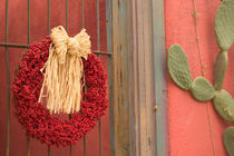 Tucson: Presidio Historic District Christmas / Chili Ristra Wreath by Danita Delimont