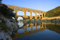 The Pont du Gard Roman aqueduct over the Gard River that dates from the first century by Danita Delimont