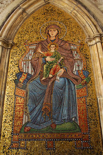 Madonna & child mosaic on church wall von Danita Delimont