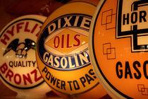 Vintage gasoline signs von Danita Delimont