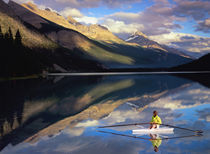 A rower on Banff Lake in the Canada (MR) by Danita Delimont