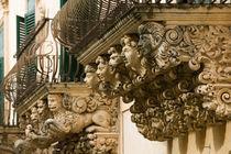 NOTO: Finest Baroque Town in Sicily Baroque Details of the Palazzo Villadorata/ Palazzo Nicolaci by Danita Delimont