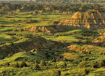 Painted Canyon After Storm in Theodore Roosevelt National Park in North Dakota by Danita Delimont