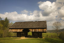 Cantilever barn in Cades Cove by Danita Delimont