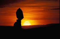 UT Balance Rock at sunset by Danita Delimont
