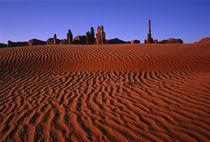 Desert ripples lead to landmarks von Danita Delimont