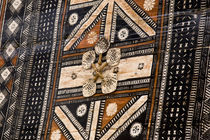 Detail of tapa cloth made of bark by Danita Delimont