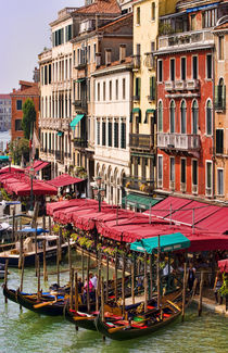 Grand Canal of Venice Italy with gondola boats and romantic waters of the city Venezia by Danita Delimont