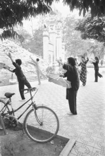 Morning Excercises by Hoan Kiem Lake (NR) by Danita Delimont