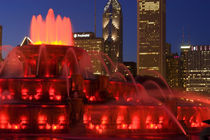 Buckingham Fountain illuminated at night by Danita Delimont