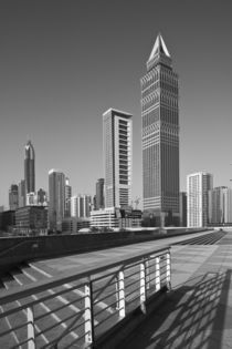 Tower-Up Building and Sheik Zayed Road Highrises by Danita Delimont