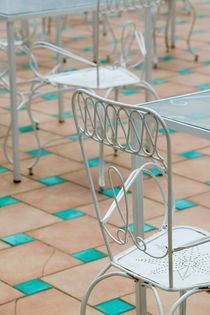(Amalfi Coast) POSITANO: Cafe Tables & Chairs von Danita Delimont