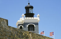 Fuerte San Felipe del Morro's grey castellated lighthouse in Old San Juan Puerto Rico von Danita Delimont