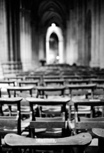 Church pews of National Cathedral by Danita Delimont
