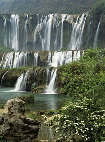 Jiulong (Nine dragon) waterfall is a 10-tier series of waterfalls von Danita Delimont