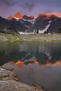 Shuksan reflected in Lake Ann by Danita Delimont