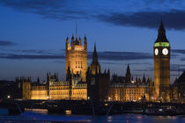 London: Houses of Parliament / Evening by Danita Delimont