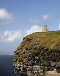 Scenic Cliffs of Moher and O'Brien's Tower by Danita Delimont