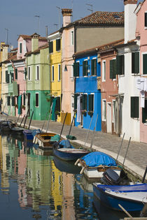 Multicolored houses along the canal by Danita Delimont