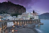 Campania (Amalfi Coast) Atrani: Evening Town View von Danita Delimont