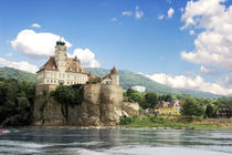 The stunning Schonbuhel Castle sits above the Danube River along the Wachau Valley of Austria von Danita Delimont