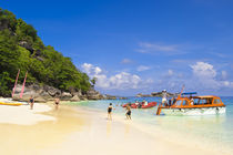 Passengers onshore at Ko Miang Island Similan Islands Andaman Sea Thailand by Danita Delimont