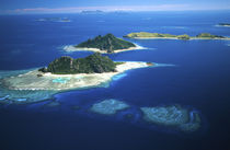 Mamanuca Islands (front left to distant right) Fiji - aerial by Danita Delimont