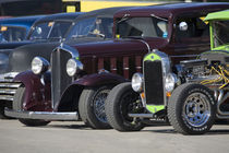 Antique cars lined up at an antique car show von Danita Delimont