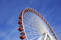 View of Ferris wheel ride at Navy Pier amusement park von Danita Delimont