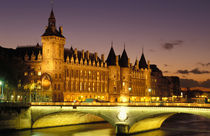 Conciergerie and river Seine at dusk by Danita Delimont