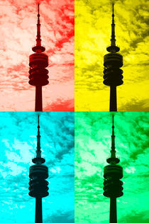 Munich television tower pop art von Falko Follert