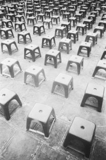 Plastic Stools at the Temple of Literature by Danita Delimont