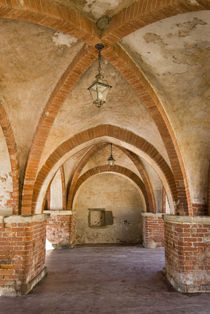13th century arched market place by Danita Delimont