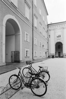 Bicycles in the Domplatz by Danita Delimont