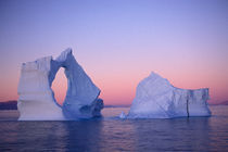 Iceberg at sunset by Danita Delimont