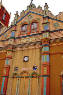 Colourful terracotta mosque of Porto Novo (RF) by Danita Delimont