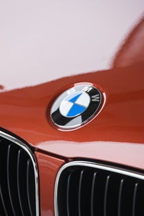 BMW Symbol on 1 series car by Danita Delimont