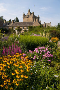 Beautiful gardens and famous castle in Scotland called the Cawdor Castle in Cawdor Scotland by Danita Delimont