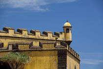 Historic yellow Saint Tiago Fortress (aka Forte de Sao Tiago or Fort of Saint James) von Danita Delimont