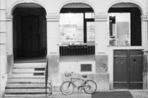 Kramgasse Building with bike by Danita Delimont