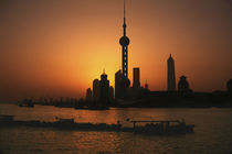 Shanghai View of Oriental Pearl TV Tower and highrises by Danita Delimont