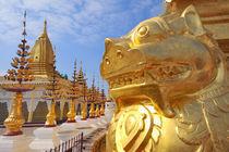 The Shwe Zigon Pagoda complex in Bagan by Danita Delimont