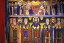 Artwork depicting apostles and saints in Ethiopian Orthodox Church von Danita Delimont