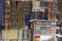 Colorful West African fabric by Danita Delimont