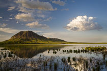 Bear Butte reflects into Bear Butte Lake near Sturgis South Dakota von Danita Delimont
