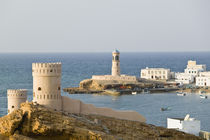 Towers of Al Ayajh Fort / Sur Bay / Late Afternoon by Danita Delimont