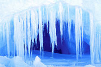Cave in Iceberg by Danita Delimont