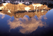 The Ramparts (3040 meters) viewed in reflection von Danita Delimont